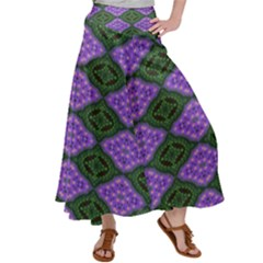 Digital Grapes Satin Palazzo Pants by Sparkle