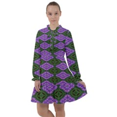 Digital Grapes All Frills Chiffon Dress
