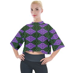 Digital Grapes Mock Neck Tee by Sparkle