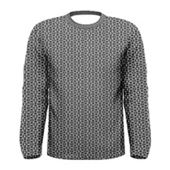 Black And White Triangles Men s Long Sleeve Tee by Sparkle