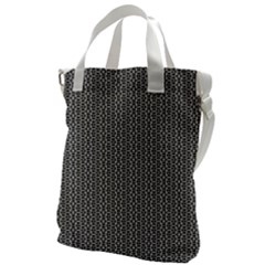 Black And White Triangles Canvas Messenger Bag