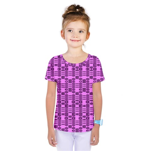 Digital Violet Kids  One Piece Tee by Sparkle