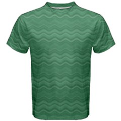 Digital Waves Men s Cotton Tee by Sparkle