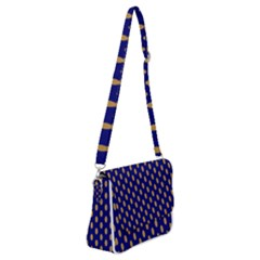 Polka Dots Shoulder Bag With Back Zipper