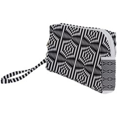 Optical Illusion Wristlet Pouch Bag (small) by Sparkle