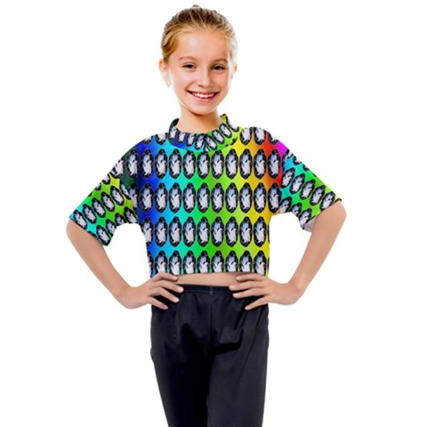 Geometric Balls Kids Mock Neck Tee by Sparkle