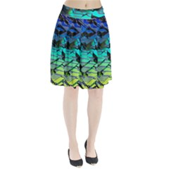 Digital Abstract Pleated Skirt