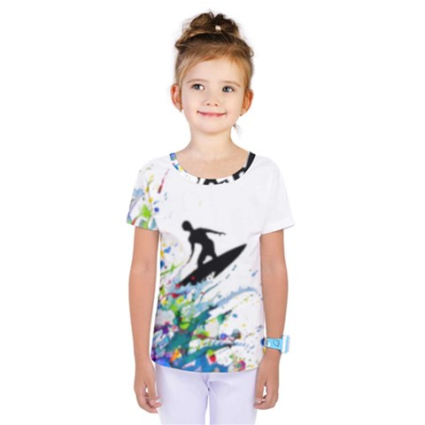 Nature Surfing Kids  One Piece Tee by Sparkle