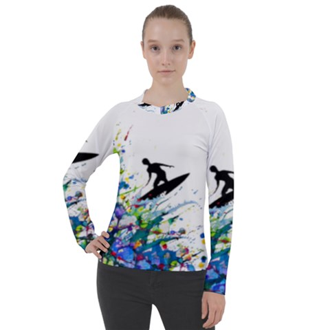 Nature Surfing Women s Pique Long Sleeve Tee by Sparkle