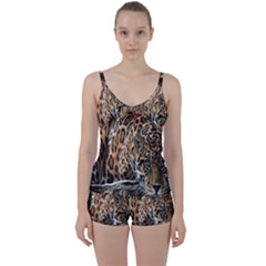 Nature With Tiger Tie Front Two Piece Tankini