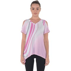 Modern Pink Cut Out Side Drop Tee by Sparkle