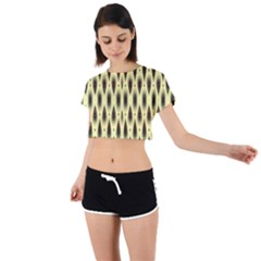 Mirrors Tie Back Short Sleeve Crop Tee