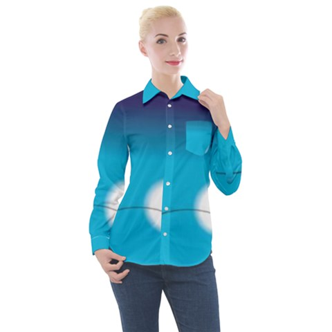 Fishing Women s Long Sleeve Pocket Shirt by Sparkle