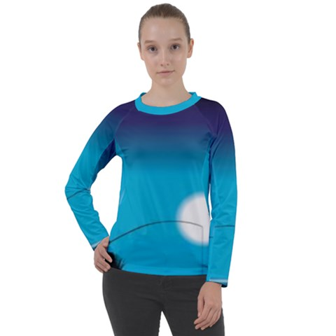 Fishing Women s Long Sleeve Raglan Tee by Sparkle