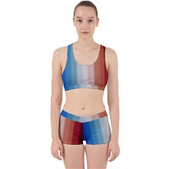 Blue,white Red Work It Out Gym Set