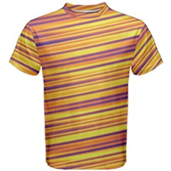 Orange Strips Men s Cotton Tee by Sparkle