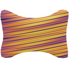 Orange Strips Seat Head Rest Cushion