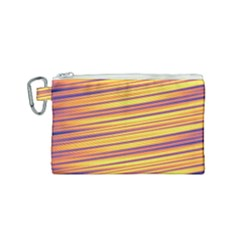 Orange Strips Canvas Cosmetic Bag (small)