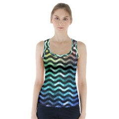Digital Waves Racer Back Sports Top by Sparkle