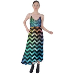 Digital Waves Tie Back Maxi Dress by Sparkle