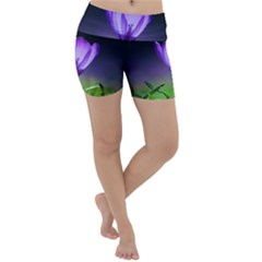 Flower Lightweight Velour Yoga Shorts