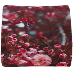 Red Floral Seat Cushion