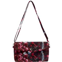 Red Floral Removable Strap Clutch Bag