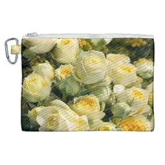 Yellow Roses Canvas Cosmetic Bag (xl)