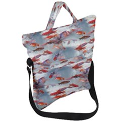 Golden Fishes Fold Over Handle Tote Bag