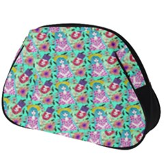 Blue Haired Girl Pattern Green Full Print Accessory Pouch (big) by snowwhitegirl