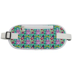 Blue Haired Girl Pattern Green Rounded Waist Pouch by snowwhitegirl