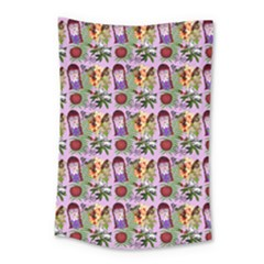 Purple Glasses Girl Pattern Lilac Small Tapestry