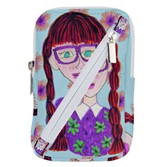 Purple Glasses Girl Wall Belt Pouch Bag (large) by snowwhitegirl