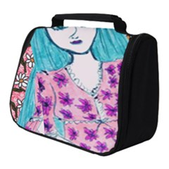 Blue Haired Girl Wall Full Print Travel Pouch (small) by snowwhitegirl
