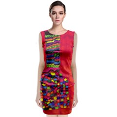 Colorful Leg Warmers Classic Sleeveless Midi Dress