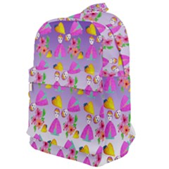 Girl With Hood Cape Heart Lemon Patternpurple Ombre Classic Backpack