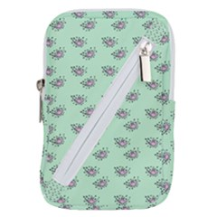 Zodiac Bat Pink Mint Belt Pouch Bag (large)