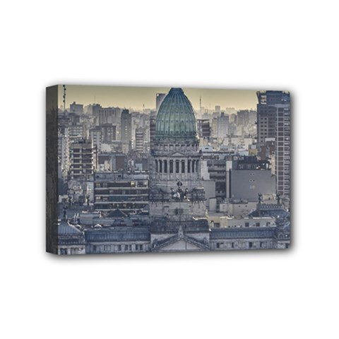 Buenos Aires Argentina Cityscape Aerial View Mini Canvas 6  X 4  (stretched)