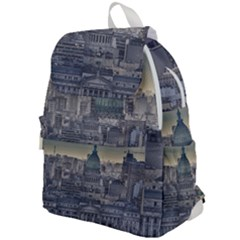 Buenos Aires Argentina Cityscape Aerial View Top Flap Backpack