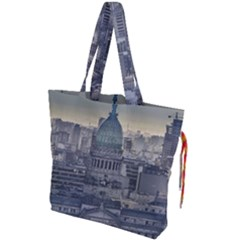 Buenos Aires Argentina Cityscape Aerial View Drawstring Tote Bag