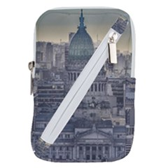 Buenos Aires Argentina Cityscape Aerial View Belt Pouch Bag (large) by dflcprintsclothing
