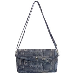 Buenos Aires Argentina Cityscape Aerial View Removable Strap Clutch Bag