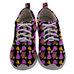 Girl With Hood Cape Heart Lemon Pattern Black Athletic Shoes by snowwhitegirl