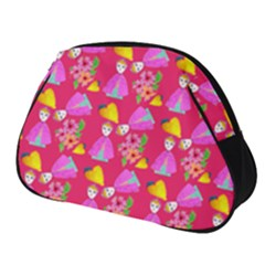 Girl With Hood Cape Heart Lemon Pattern Pink Full Print Accessory Pouch (small) by snowwhitegirl