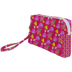 Girl With Hood Cape Heart Lemon Pattern Pink Wristlet Pouch Bag (small) by snowwhitegirl
