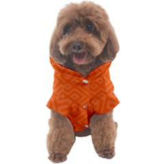 Orange Maze Dog Coat