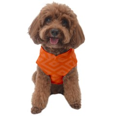 Orange Maze Dog Sweater