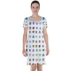 All The Aliens Teeny Short Sleeve Nightdress by ArtByAng