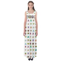 All The Aliens Teeny Empire Waist Maxi Dress