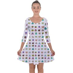 All The Aliens Teeny Quarter Sleeve Skater Dress